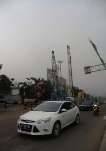 Pembangunan Infrastruktur Transportasi di Jakarta (Foto: Adhito)